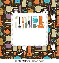 台所, カード