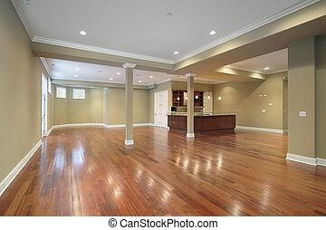 台所, 家の 構造, 新しい, 地下室