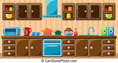 台所, interior.