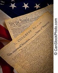 合併した, 憲法, 州, 旗, 背景, 宣言, 独立
