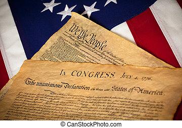 合併した, 憲法, declaratin, 州, 旗, 独立