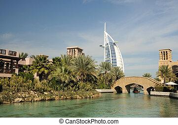 合併した, jumeirah, アラビア人, 管轄区域, madinat, ドバイ