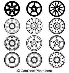 合金, 自動車, 車輪, 車輪