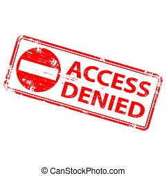 否定された, 切手, アクセス