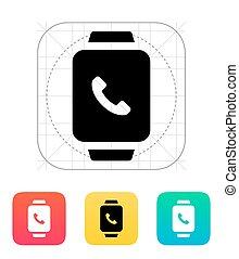 呼出し, 受話器, 腕時計, icon., 痛みなさい