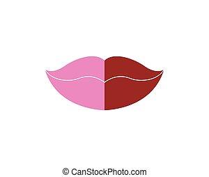 唇, セクシー, 背景, ロゴ