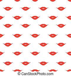 唇, ベクトル, seamless, 印刷, 赤, パターン, 背景