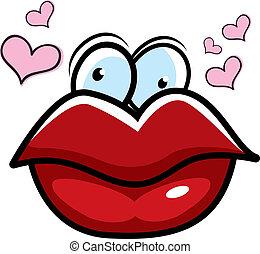 唇, 漫画