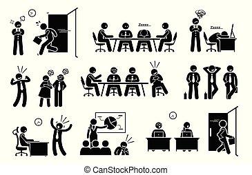 問題, 怠け者である, 無用である, workplace., 網, millennials, 社会