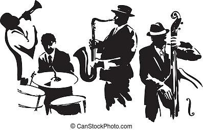 四つ組, ジャズ
