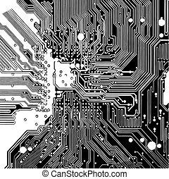 回路, コンピュータ板, (vector)