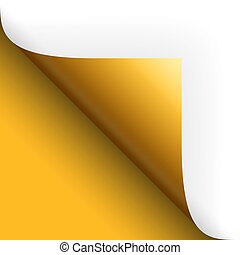 回転, 底, 上に, 黄色, ペーパー, /, ページ, 左