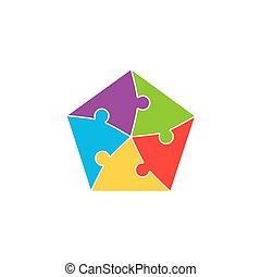困惑, ジグソーパズル, カラフルである, 背景, 小片