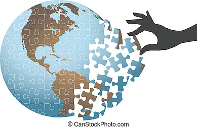 困惑, 世界的である, 解決, 手, 人, ファインド