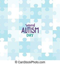 困惑, 背景, 世界, autism, 日, 小片