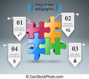 困惑, logo., infographics., ビジネス