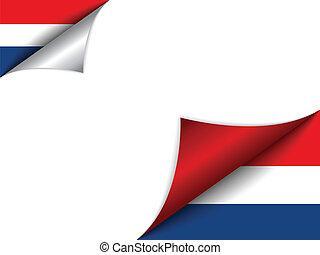 国, 旗, netherlands, 回転しているページ