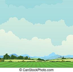 国, 風景, 背景
