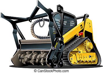 土地をきれいにする, ベクトル, 漫画, mulcher