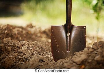 土壌, シャベル
