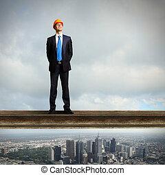 地位, ビジネスマン, 建築現場