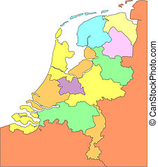 地区, 包囲, netherlands, 管理上, 国