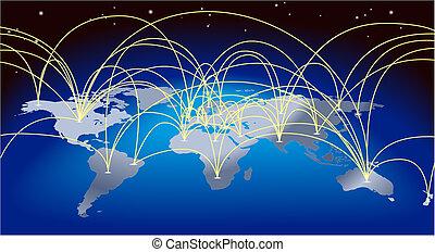 地図の背景, 世界貿易