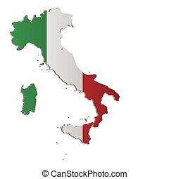 地図, イタリア, 2