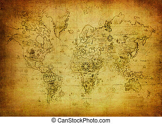 地図, 世界, 古代