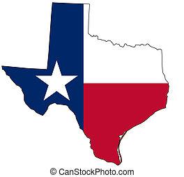 地図, 国民, 色, テキサス