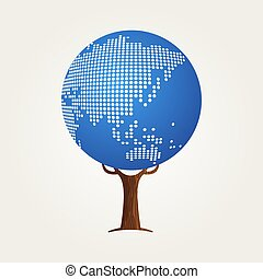 地図, 概念, コミュニケーション, 世界的である, アジア, 世界