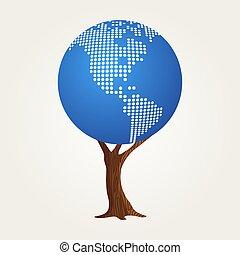 地図, 概念, コミュニケーション, 世界的である, 世界, アメリカ