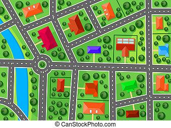 地図, 郊外