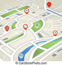 地図, 都市, 抽象的