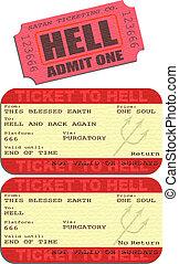地獄, 切符