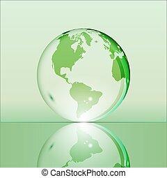 地球の 地球, 緑, 透明, 照ること