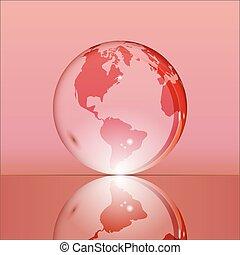 地球の 地球, 透明, 赤, 照ること