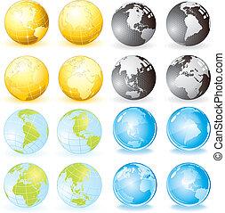 地球儀, 変化
