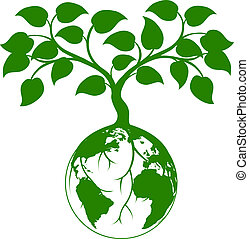 地球, グラフィック, 木