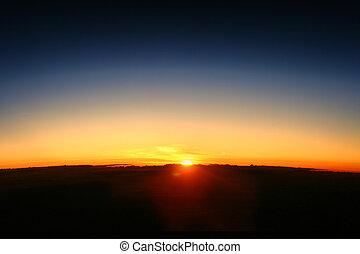 地球, 夜明け, 上昇