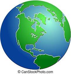 地球, 斜め