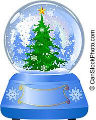 地球, 木, 雪, クリスマス