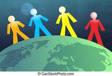 地球, 男性