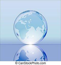 地球, 青, 照ること, 透明, 地球