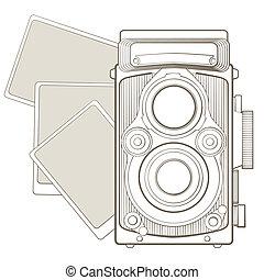 型のカメラ, ビネット, 写真