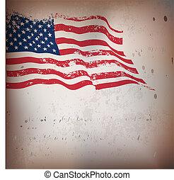 型, アメリカ人, textured, 旗, バックグラウンド。