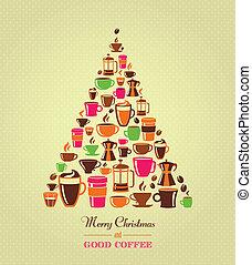 型, コーヒー木, クリスマス, アイコン