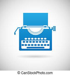 型, シンボル, 創造性, イラスト, ベクトル, デザイン, レトロ, テンプレート, アイコン, タイプライター