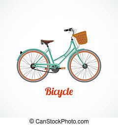 型, シンボル, 自転車