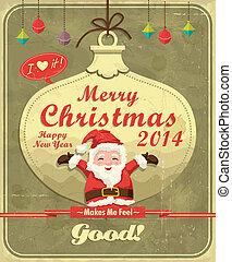 型, デザイン, クリスマス, ポスター